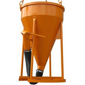 Bádie na beton typ 1017 - výpust ventilem na konci rukávu