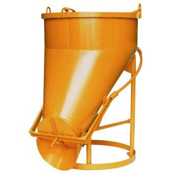 Koš na beton typ 1022 - boční výpust, ovládání pákou